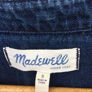 Madewell Tops - Madewell Dark Wash Button Up Denim Shirt